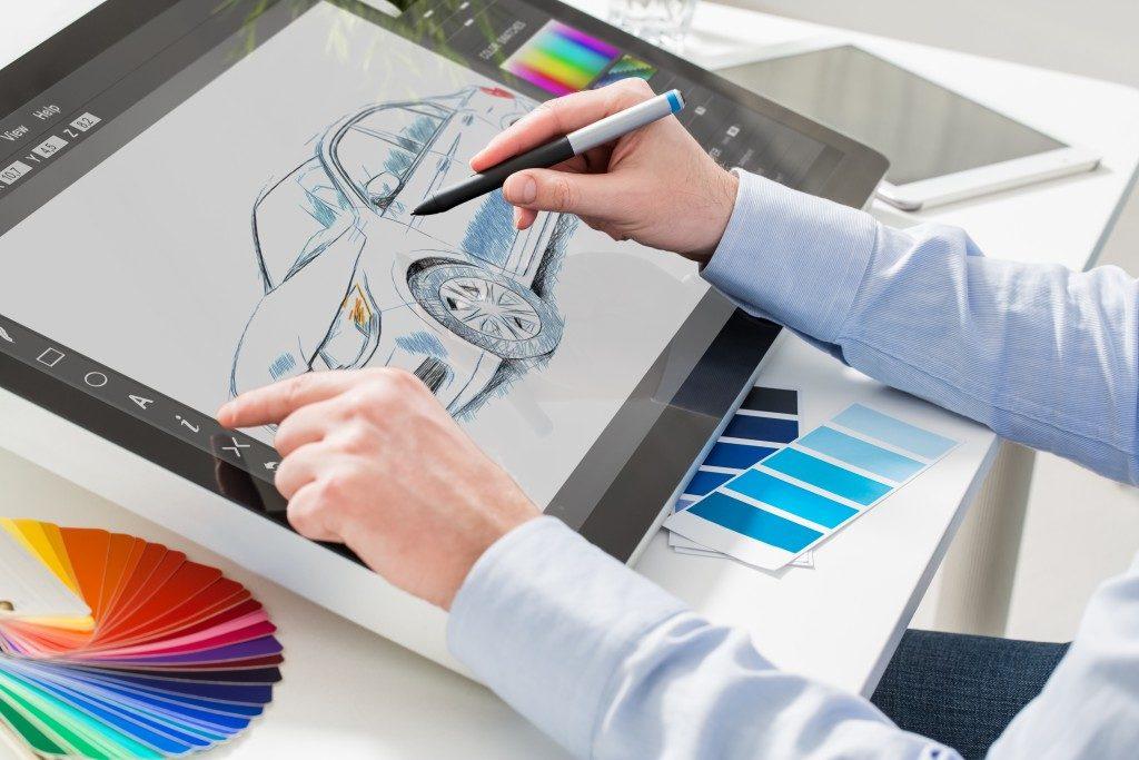 digital art of a car concept